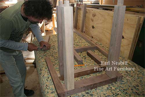 Earl fitting frames of custom made chairs