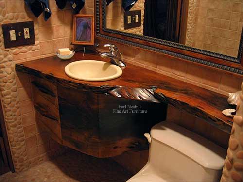 earl nesbitt fine furniture live edge bathroom vanity. Black Bedroom Furniture Sets. Home Design Ideas