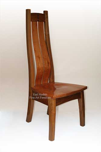 cherry and walnut chair