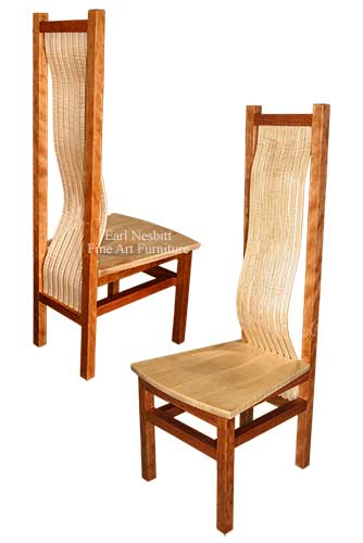 prairie school style dining room chair