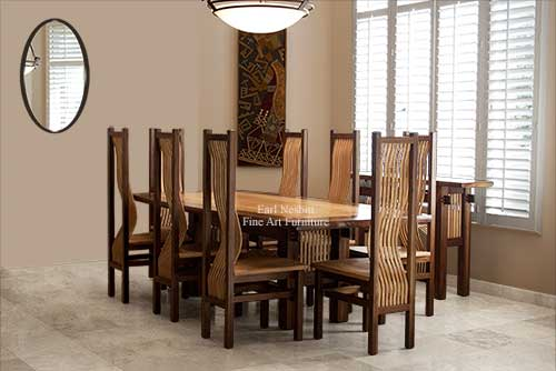 Custom Made Dining Tables Fine Art Furniture Earl Nesbitt