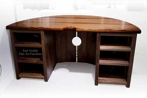 solid wood desk