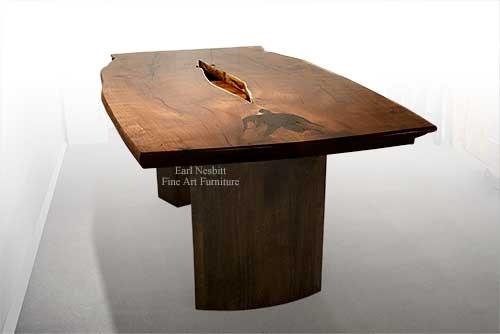 Raw Edge Wood Slab Table