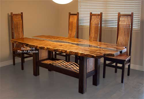 Earl Nesbitt Fine Furniture Custom Made Fine Art Furniture - Custom dining room table and chairs
