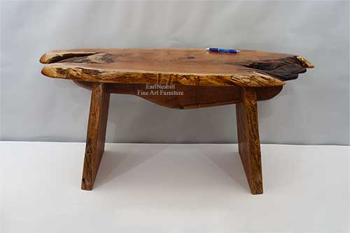 live edge outdoor bench