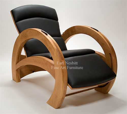 Contemporary Recliner. Earl Nesbitt Fine Furniture