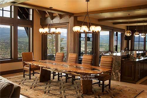 Earl Nesbitt Fine Furniture - Slab Dining Table, Live Edge
