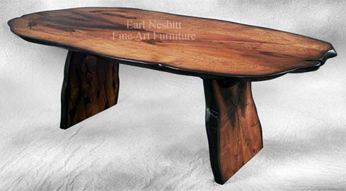natural edge wood dining table