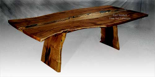 Natural Edge Slab Table